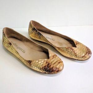 Pedro Garcia python snakeskin ballet flats size 40